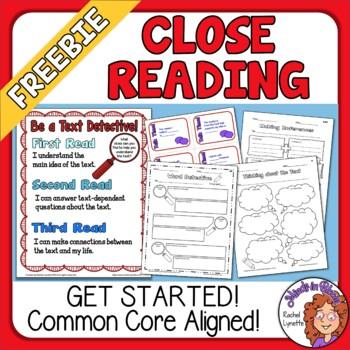 Close Reading Freebie Image