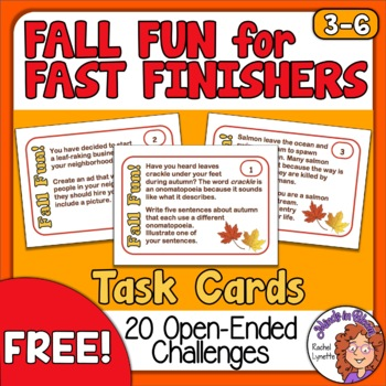 Fall Fun for Fast Finishers: 20 Open-Ended Task Cards - FREE! Image