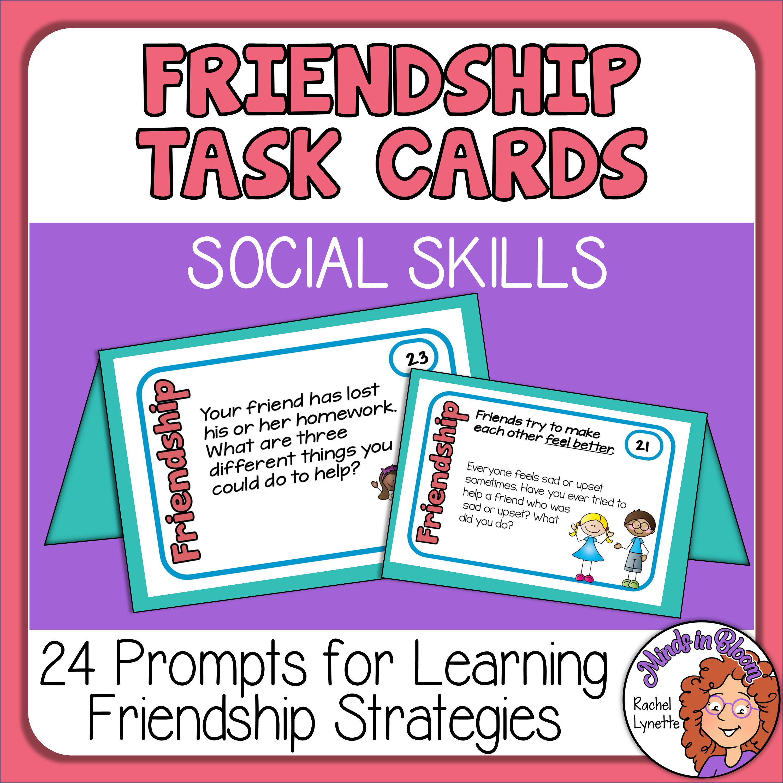 Friendship Cards Social Skills Prompts Image