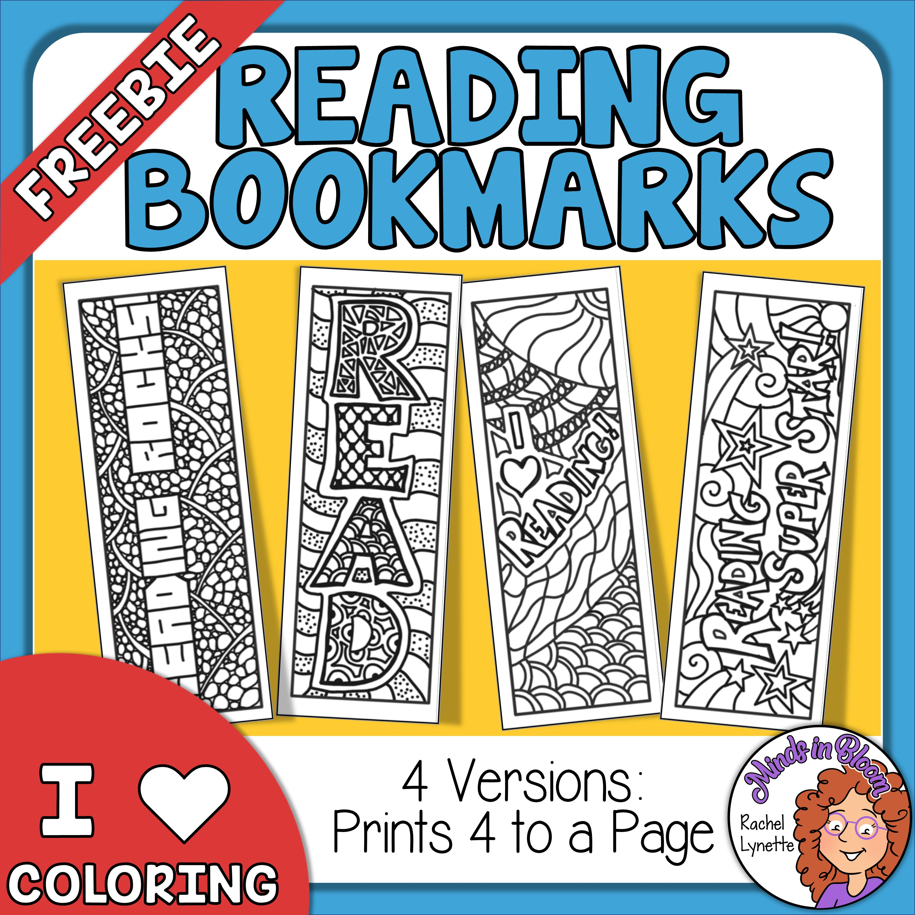 Reading Bookmarks to Color - Free! Image