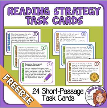 Reading Strategies Task Cards - FREE! Inference, Summarizing, Author
