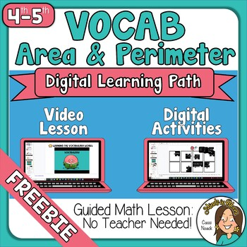 Area and Perimeter Vocabulary Distance Learning FREEBIE Google Slides Image