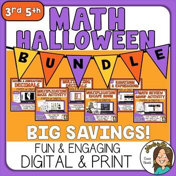 Super Engaging Halloween Math BUNDLE Image