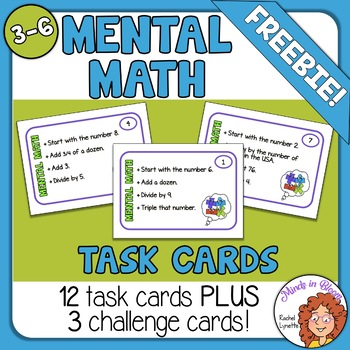 Mental Math Task Cards FREE Image