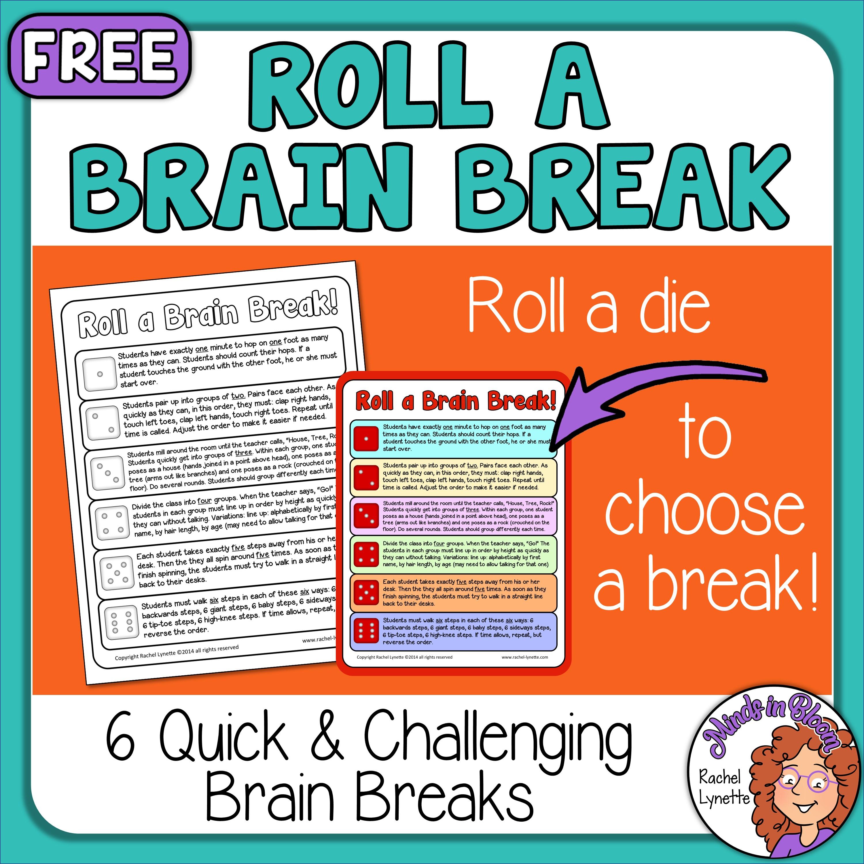 Brain Breaks Freebie: Roll a Brain Break! Image