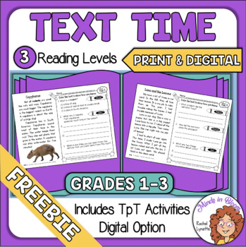 Close Reading Comprehension Passages Distance Learning with Digital FREE Image